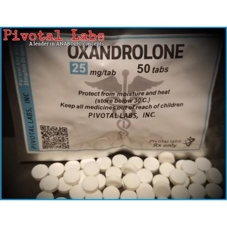 OXANDROLONE (Anavar) - 25mgtab 50 Tabs/bag - PIVOTAL - USA