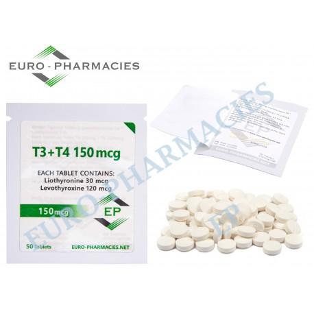 T3+T4 - ( T3-30mg + T4-120mg) -150mcg/tab Euro-Pharmacies