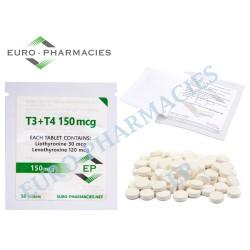 T3+T4 - ( T3-30mcg + T4-120mcg) -150mcg/tab Euro-Pharmacies - USA